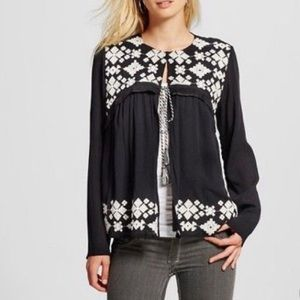 🍩 Mossimo Sweater Embroidered Aztec Cardigan